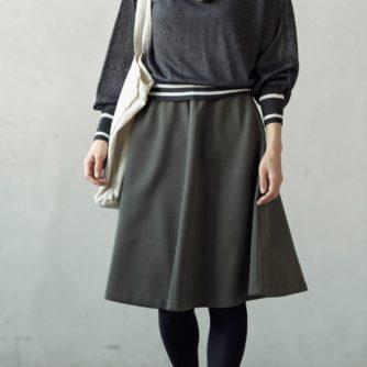 [レシピなし]ひざ丈/ロング フレアスカート(LBS4790-13/14)